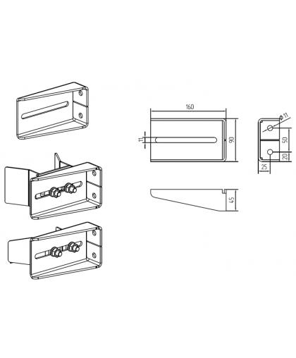 Кронштейн для улавливателя верхнего / нижнего FLGU