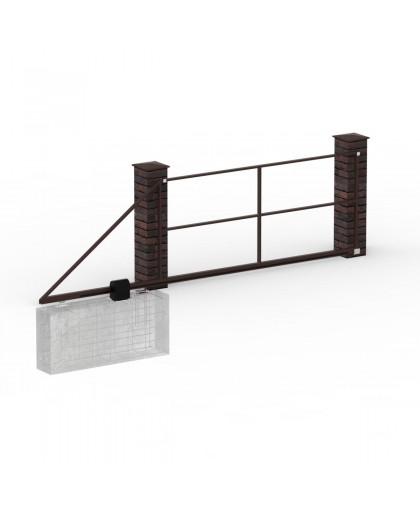 Каркас ворот откатных до 3 м
