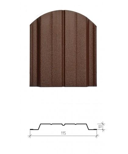 Штакетник металлический Авангард, матовое двустороннее покрытие