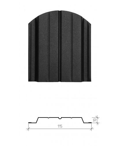 Штакетник металлический Авангард, матовое полимерное двухстороннее покрытие