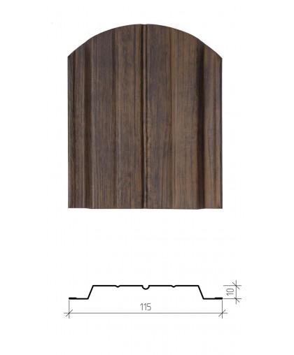 Штакетник металлический Авангард, имитация дерева