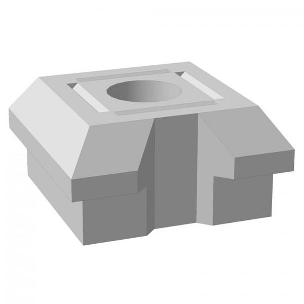"""Основание столба фундамента """"Brick"""" начальное/конечное 460x460x230 мм"""