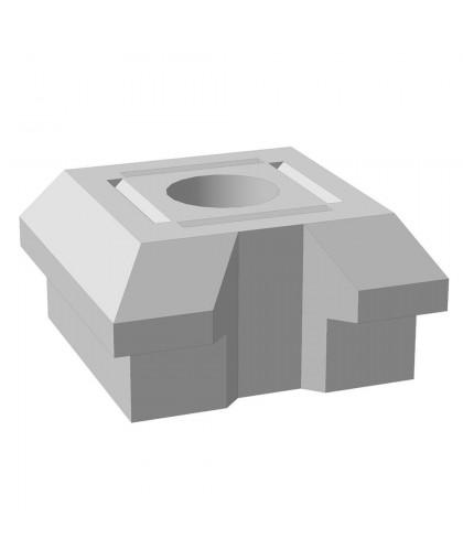 "Основание столба фундамента ""Brick"" проходное 460x460x230 мм"