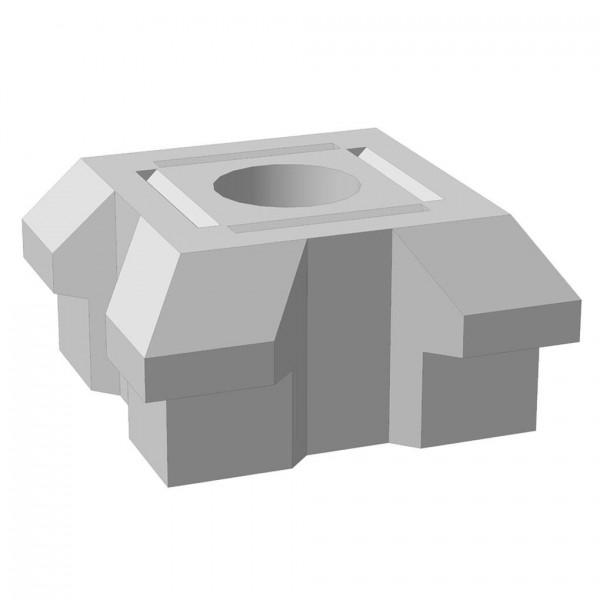 "Основание столба фундамента ""Brick"" угловое двойное 460x460x230 мм"