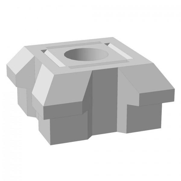 "Основание столба фундамента ""Brick"" угловое тройное 460x460x230 мм"