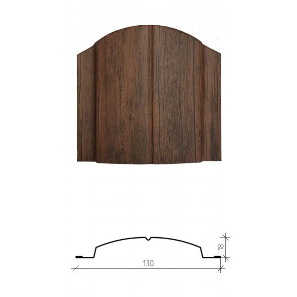 Штакетник металлический Дельта, имитация дерева, двустороннее покрытие