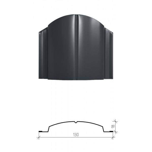 Штакетник металлический Дельта, глянцевое покрытие