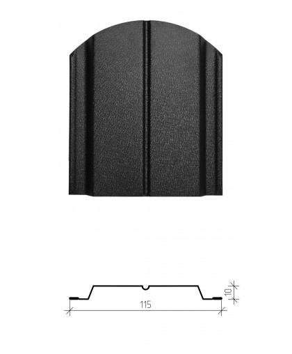 Штакетник металлический Классик, двухсторонний заводской полиэстер, мат