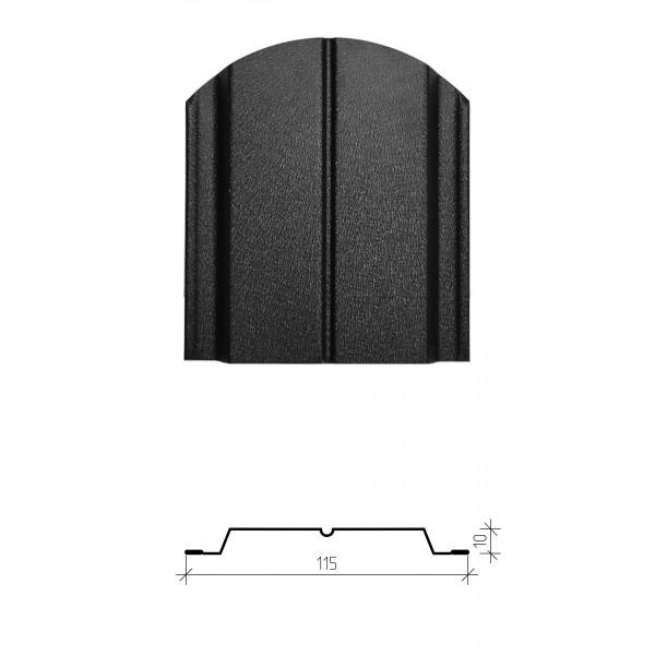 Штакетник металлический Классик, матовое двустороннее покрытие
