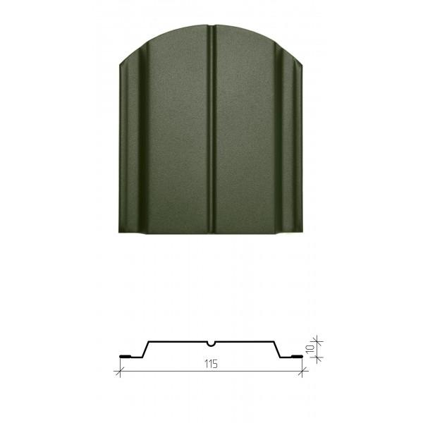 Штакетник металлический Классик, матовое полимерное двустороннее покрытие