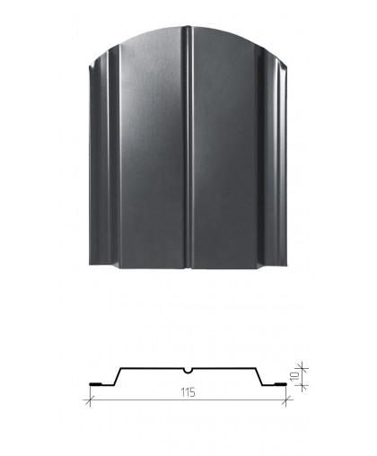 Штакетник металлический Классик, двухсторонний заводской полиэстер, глянец