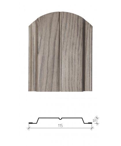 Штакетник металлический Классик, имитация дерева