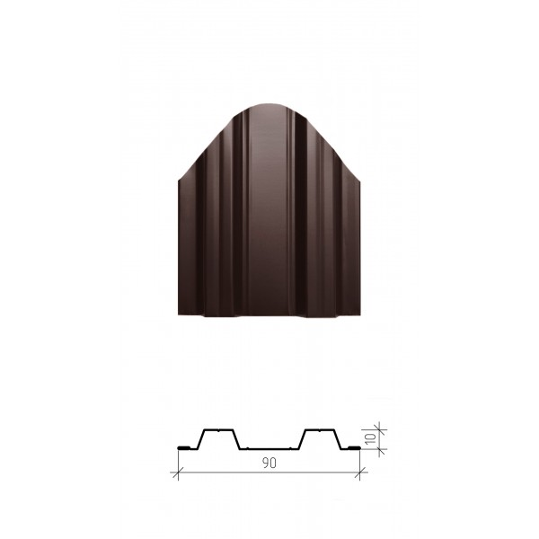 Штакетник металлический Сигма, глянцевое покрытие