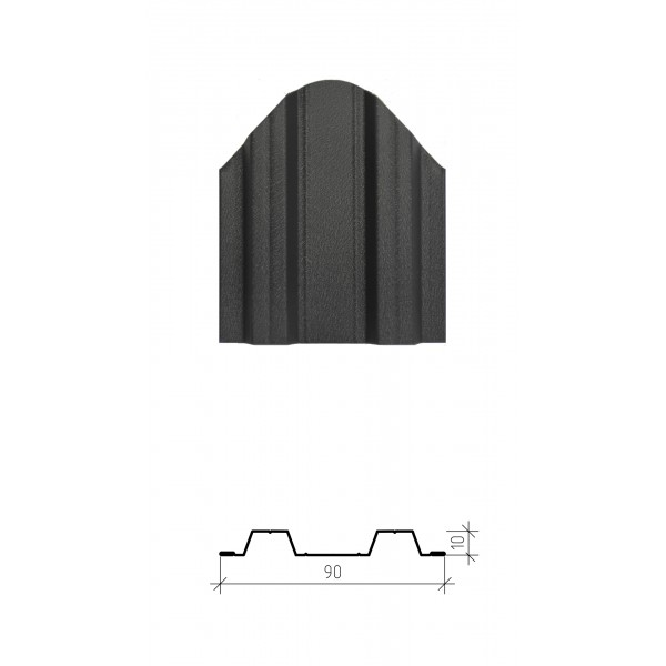 Штакетник металлический Константа, матовое покрытие