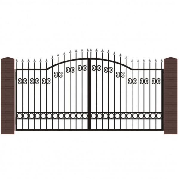 Кованые ворота В-5
