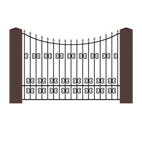 Кованый забор К-9