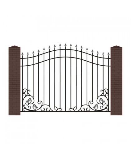 Кованый забор К-10