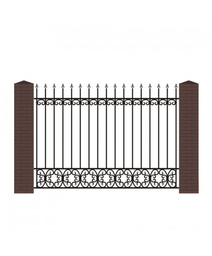 Кованый забор К-6