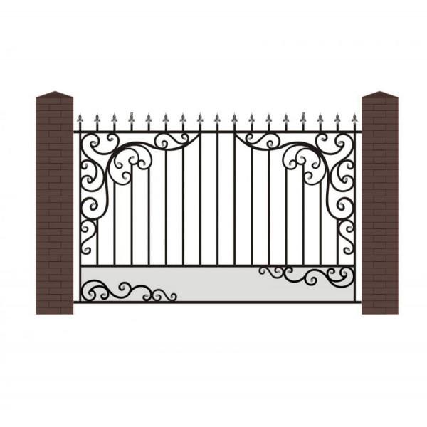Кованый забор К-11