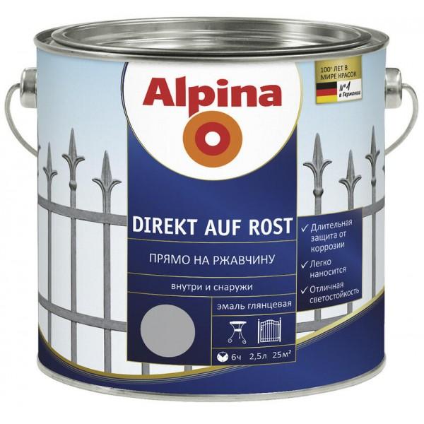 Эмаль алкидная Alpina  RAL   2,5 л