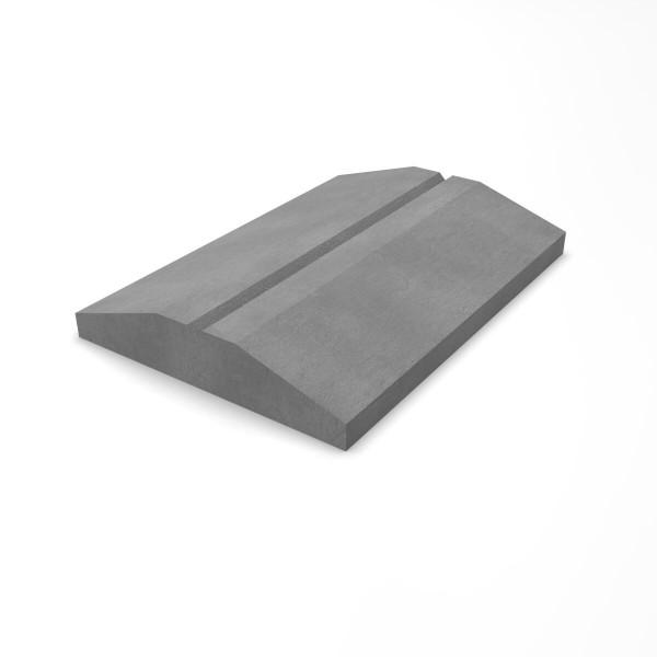 Крышка фундамента полотна забора 350х500х70 мм