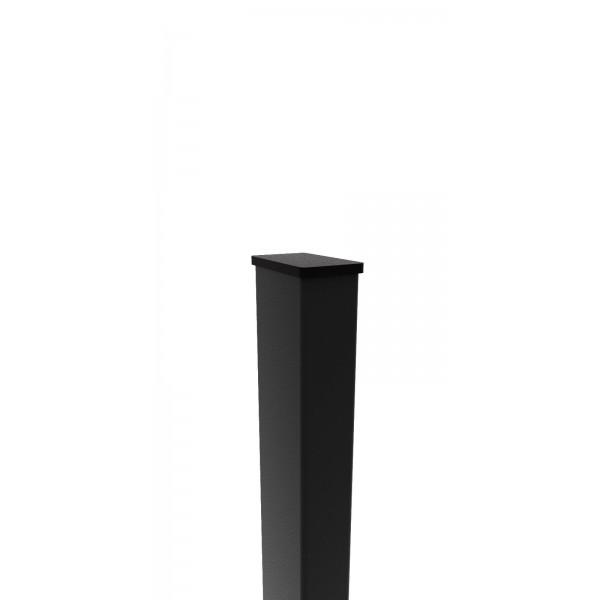 Столб для забора из черного металла 60х40х2 мм