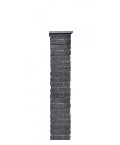 Столб для забора Брик S с крышкой, высота 1500 мм