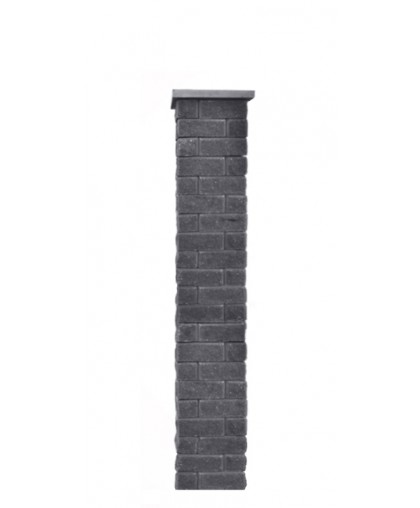 Столб для забора Брик S с крышкой, высота 1575 мм