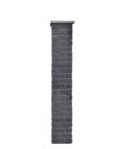 Столб для забора Брик S с крышкой, высота 1650 мм
