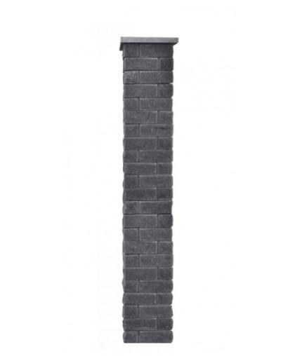 Столб для забора Брик S с крышкой, высота 1725 мм