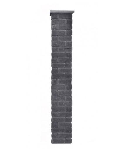 Столб для забора Брик S с крышкой, высота 1800 мм
