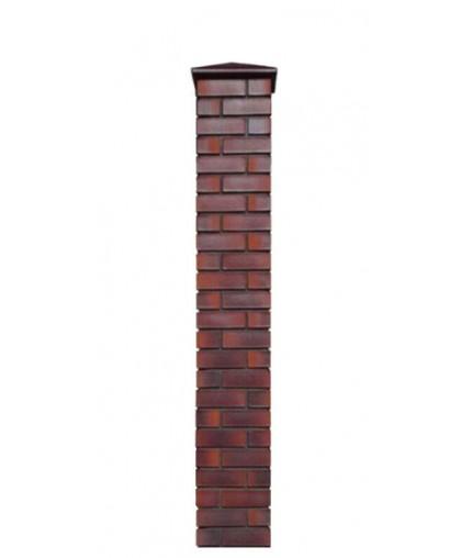 Кирпичный столб для забора с крышкой, высота 1890 мм