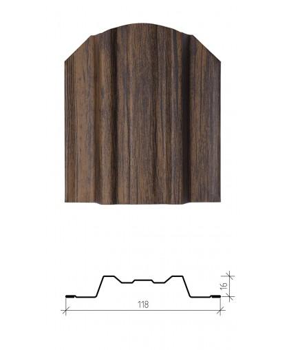 Штакетник металлический Юникс, имитация дерева, двустороннее покрытие