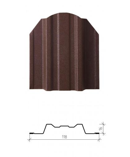 Штакетник металлический Юникс, матовый заводской полиэстер