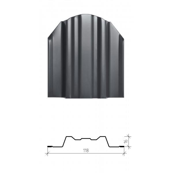 Штакетник металлический Юникс, глянцевый заводской полиэстер