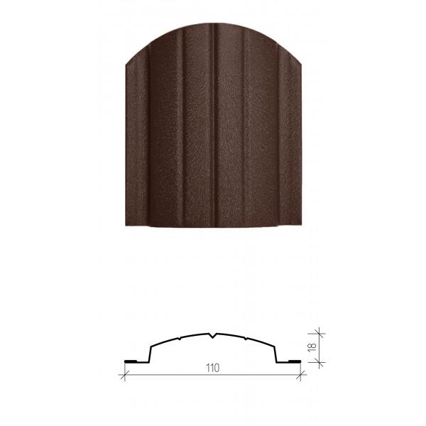 Штакетник металлический Версаль, матовое двухстороннее покрытие