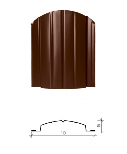 Штакетник металлический Версаль, глянцевое покрытие