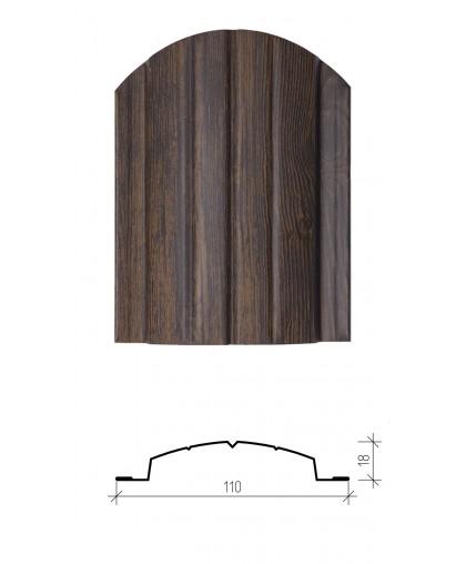 Штакетник металлический Версаль, имитация дерева
