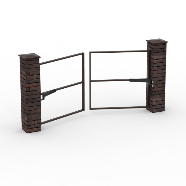 Каркас  распашных двустворчатых ворот до 3 м