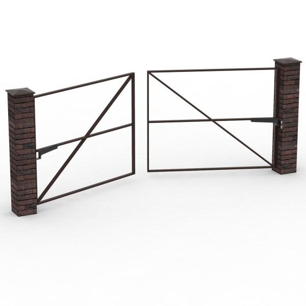 Каркас  распашных двустворчатых ворот до 5 м